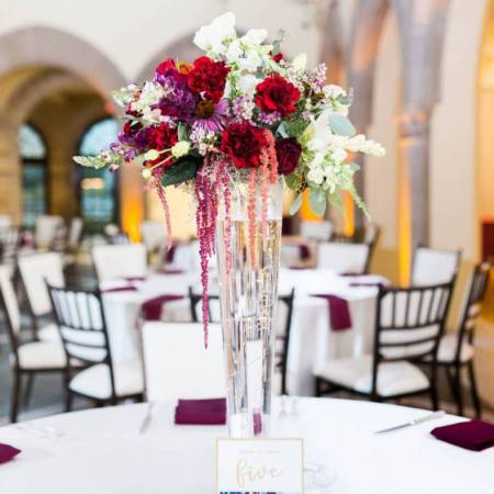 Red and Burgundy Centerpiece