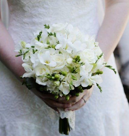 Bouquet With White Lisianthus