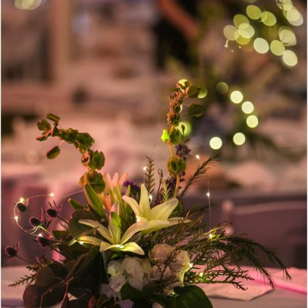Centerpiece with Fairy Lights
