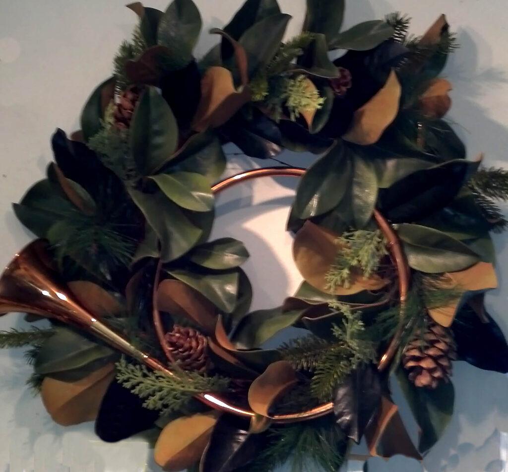 Wreath with Horn