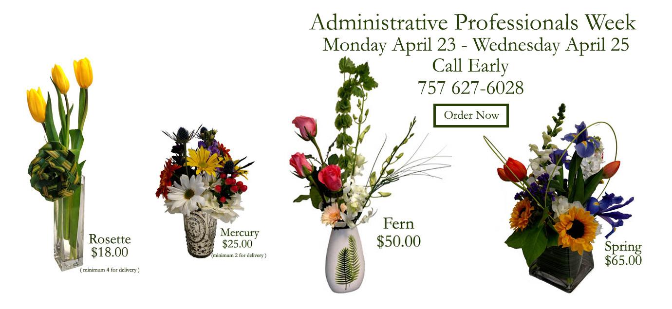 Floral Arrangements for Administrative Professionals Week