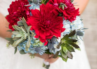 Bridal with Dahlias and Succulents