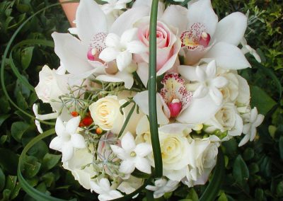 Stephanotis, Roses, Cymbidium and Lily Grass