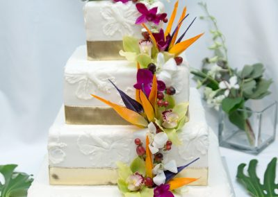 Orchids and Tropicals for the Cake